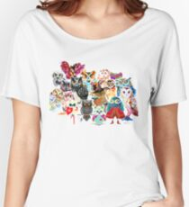 Owls collage Women's Relaxed Fit T-Shirt