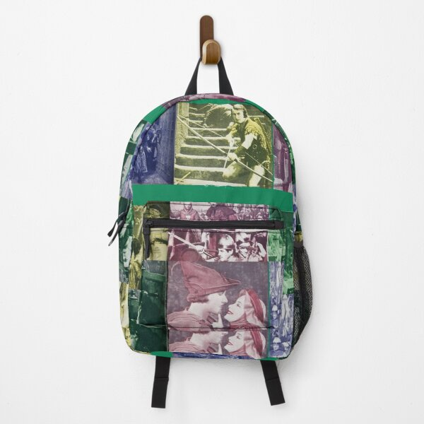 Errol Flynn Olivia De Havilland THE ADVENTURES OF ROBIN HOOD collage Backpack