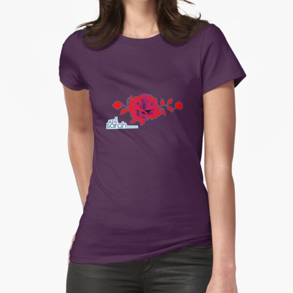 Ask Sarah - Flower Fitted T-Shirt