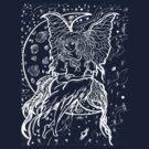 girl in the moon 2  by LoreLeft27