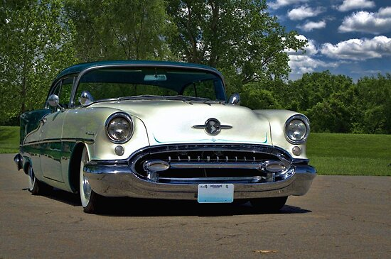 Quot 1955 Oldsmobile Holiday 88 Quot Poster By Teemack Redbubble
