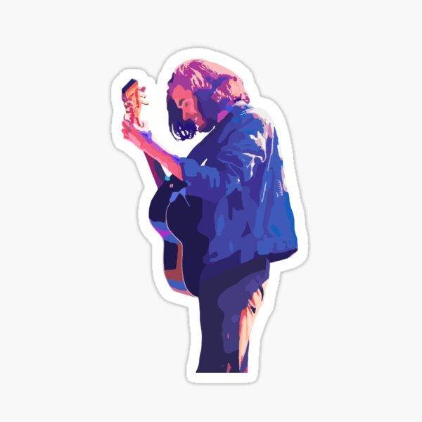 Hozier - Blue And Purple Illustration Sticker