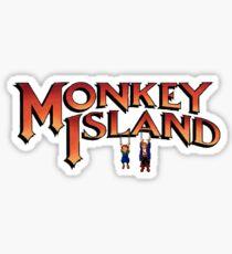 Monkey Island in Chains Sticker