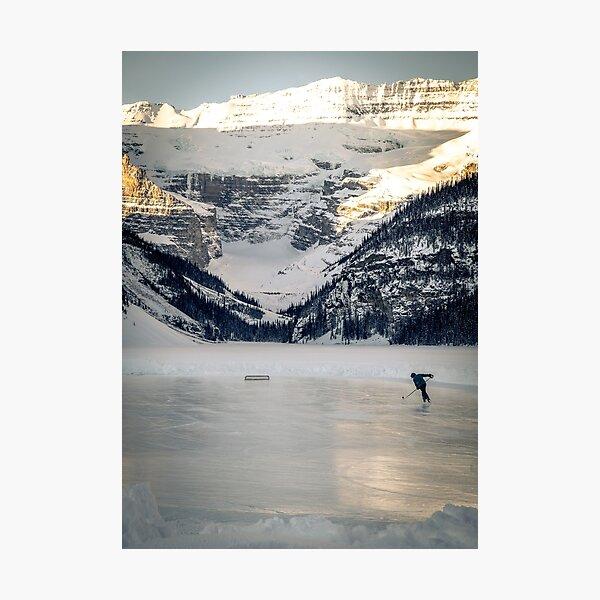 Canadian Hockey Rink, Lake Lousie Alberta Photographic Print