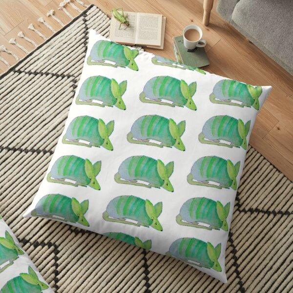 Paint me like one of your french breads, Psychadilic green Armadillo Floor Pillow