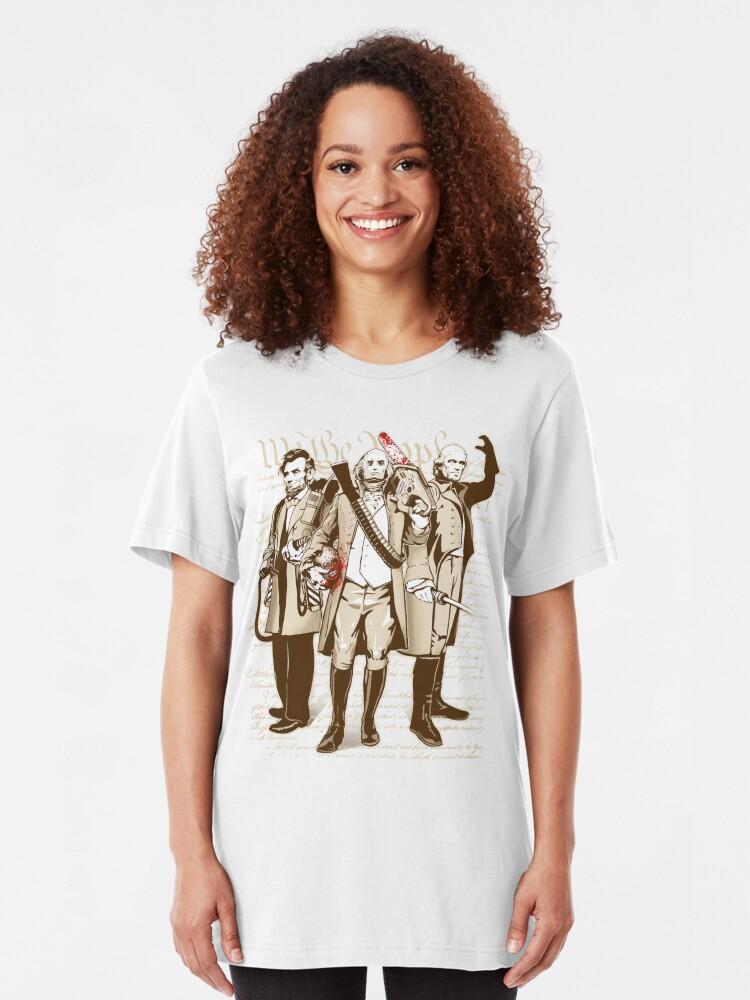 Alternate view of President Kick Asses Slim Fit T-Shirt