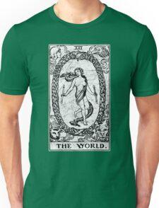 The World Tarot Card - Major Arcana - fortune telling - occult Unisex T-Shirt