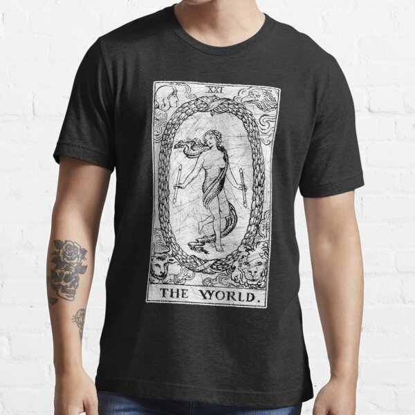The World Tarot Card - Major Arcana - fortune telling - occult Essential T-Shirt