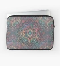 Winter Sunset Mandala in Charcoal, Mint and Melon Laptop Sleeve