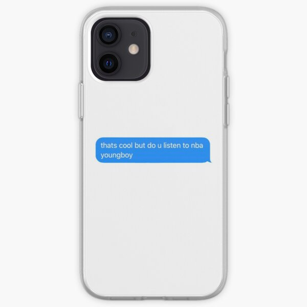 do you listen to nba youngboy text message  iPhone Soft Case