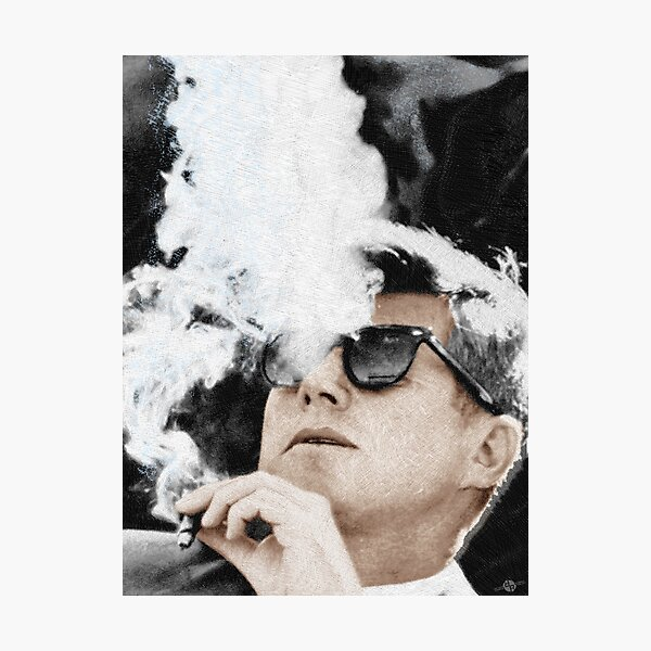 John F Kennedy Cigar And Sunglasses JFK Photographic Print