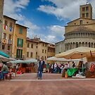 Arezzo Market Day by Uri Baruch