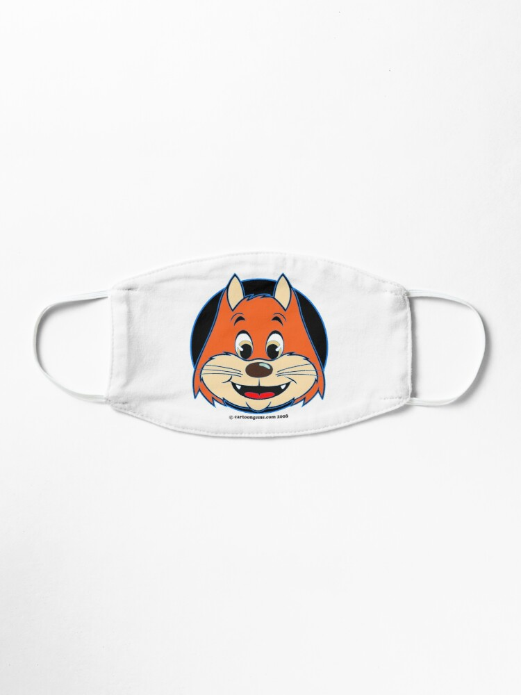 Alternate view of Katnap Orange Retro Cat Mask