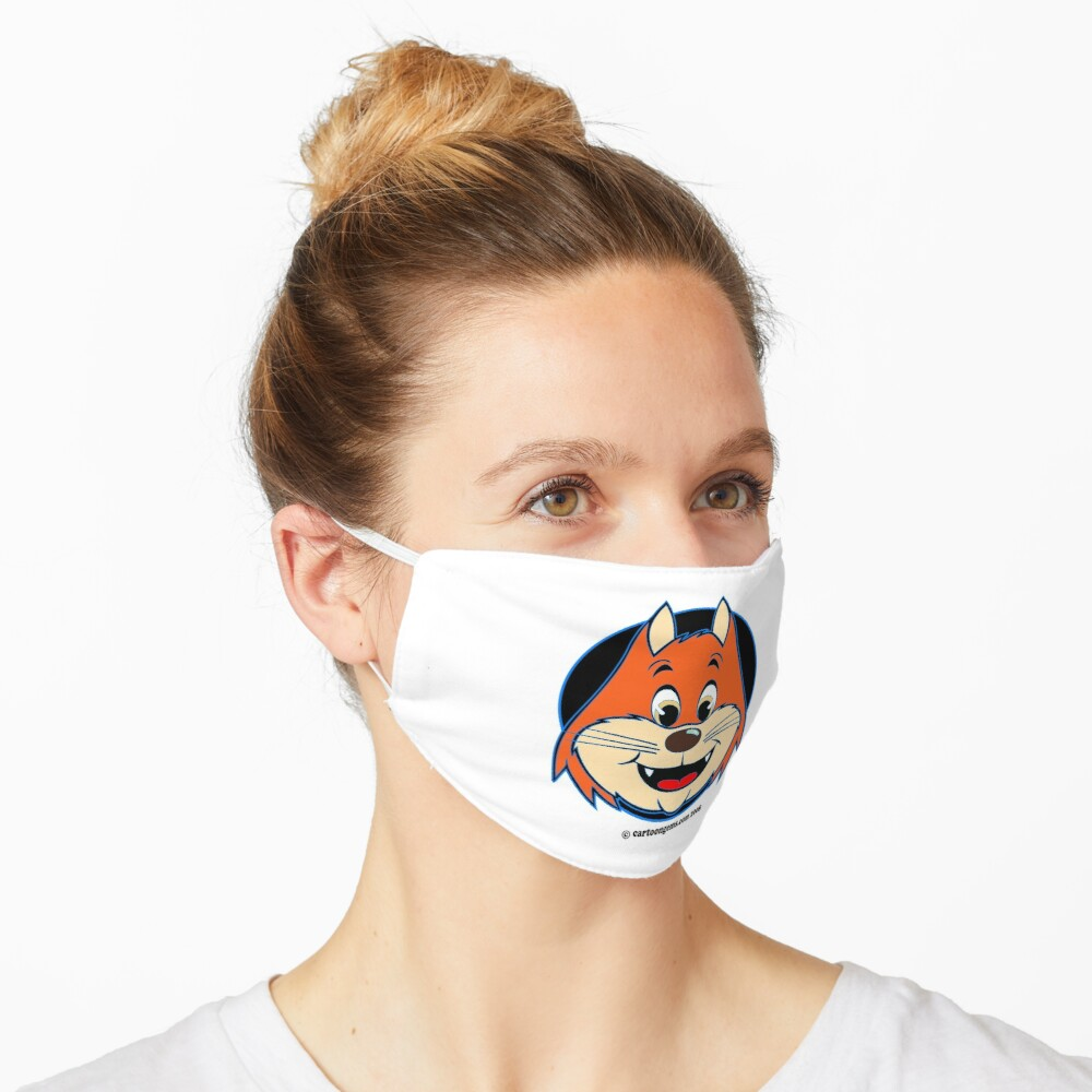 Katnap Orange Retro Cat Mask