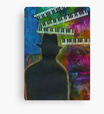 Music on His Mind Canvas Print