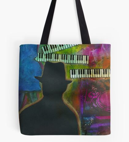 Music on His Mind Tote Bag