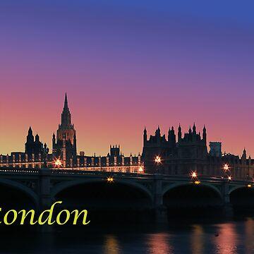 London city night lights by leksele