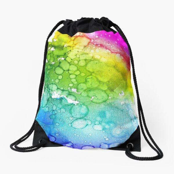 Rainbow Rush Drawstring Bag
