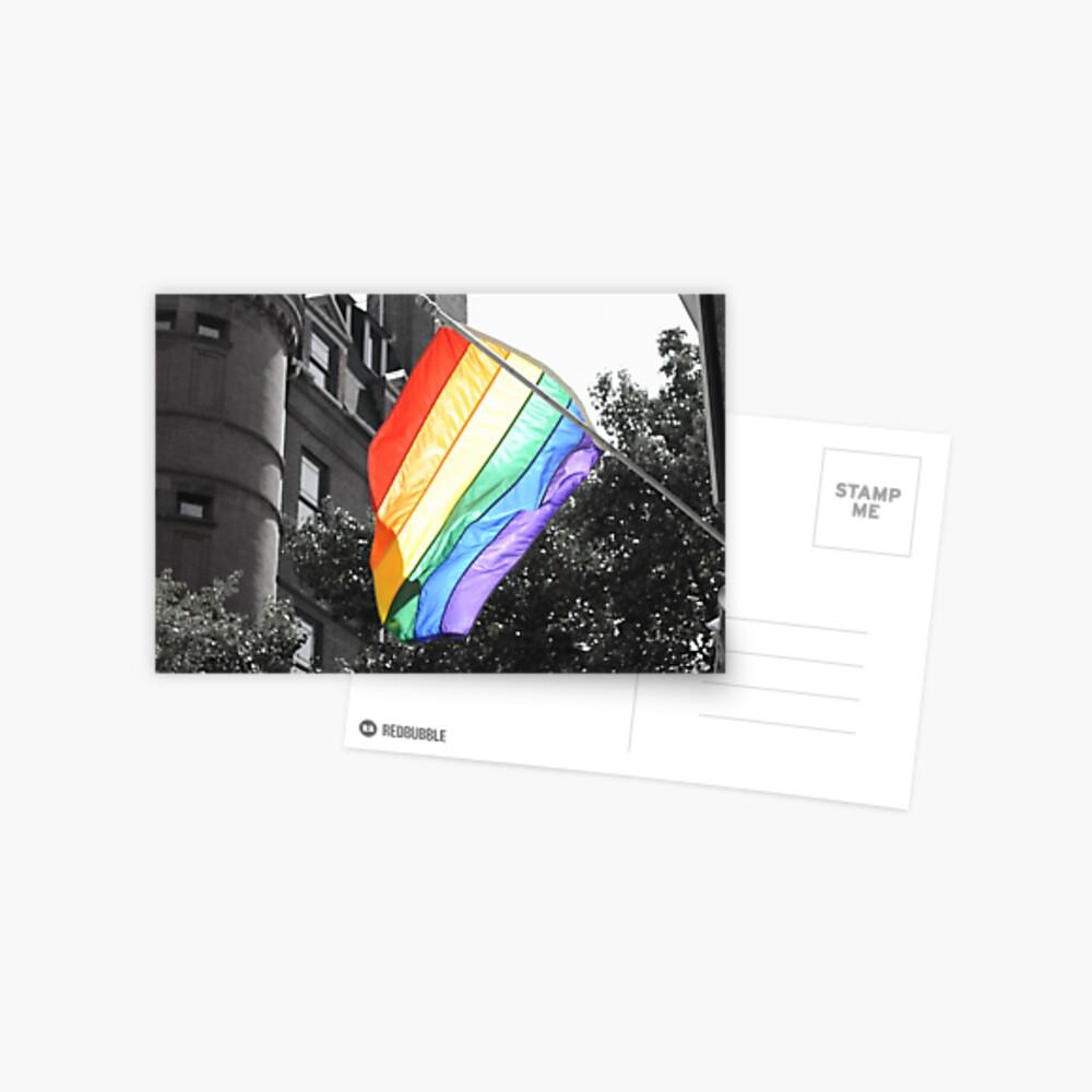 Rainbow Flag Postkarte