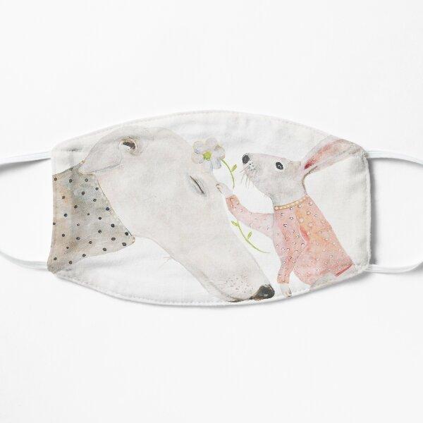 Greyhound & rabbit Flat Mask