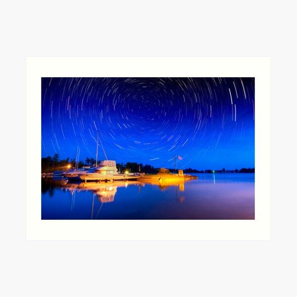 Two hours Before Dawn - Leech Lake, MN  Art Print