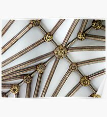 Vaulted Ceiling, Exeter Cathedral, Devon Poster