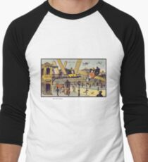 Early 20th Century images of France in 2000 - Air Cab Men's Baseball ¾ T-Shirt