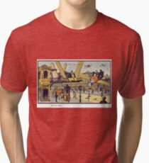 Early 20th Century images of France in 2000 - Air Cab Tri-blend T-Shirt