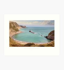 Man O' War Cove, Dorset Art Print