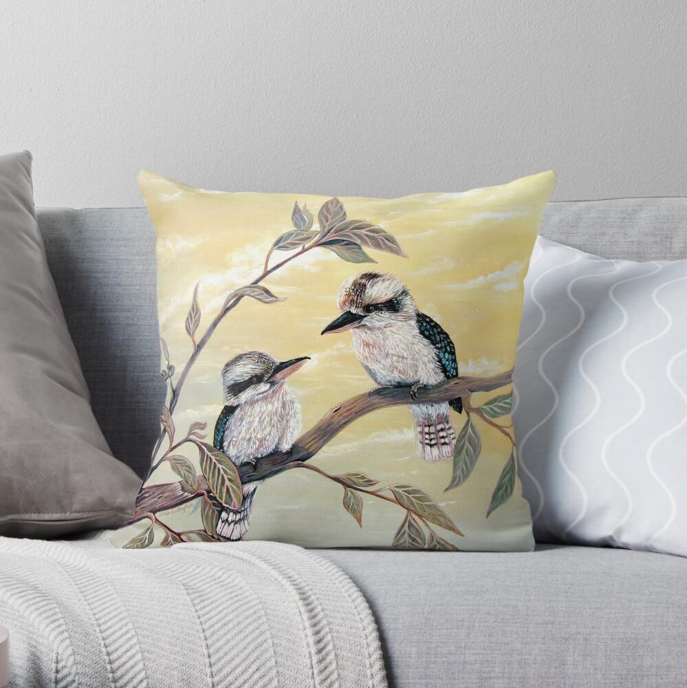 Kookaburra Magic Throw Pillow