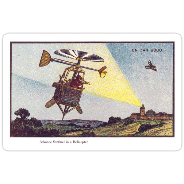 Early 20th Century images of France in 2000 - Sentinel Helicopter by caldayjd