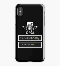 Undertale - Sans Skeleton - Undertale T shirt iPhone Case