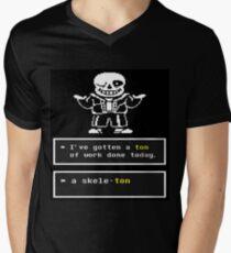 Undertale - Sans Skeleton - Undertale T shirt Men's V-Neck T-Shirt