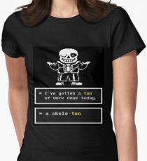 Undertale - Sans Skelett - Undertale T-Shirt Tailliertes T-Shirt für Frauen