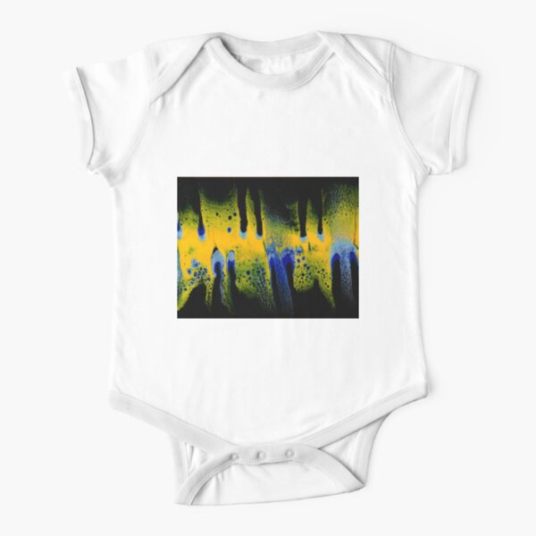 Ghost pour painting Short Sleeve Baby One-Piece