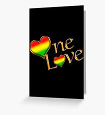 Rastafarian greeting cards redbubble one love gold greeting card m4hsunfo