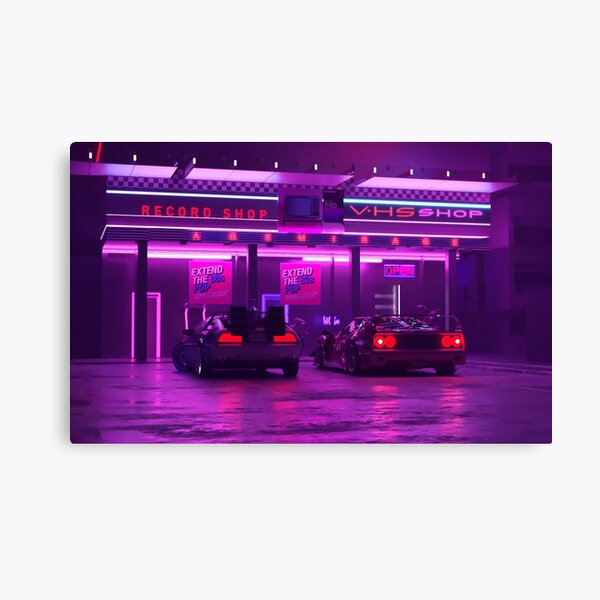Vhs Shop Canvas Print