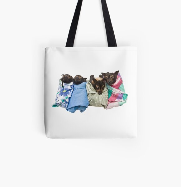 Baby Fruit Bats All Over Print Tote Bag
