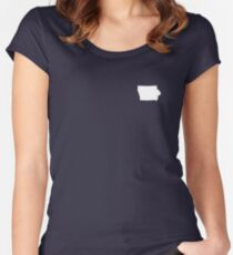 Iowa Over Heart Women's Fitted Scoop T-Shirt