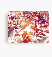 Eastern Trout Lilies - Orange and Violet Canvas Print