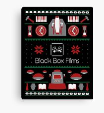 Black Box Films Christmas Sweater (Red & Green) Canvas Print