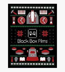 Black Box Films Christmas Sweater (Red & Green) Photographic Print