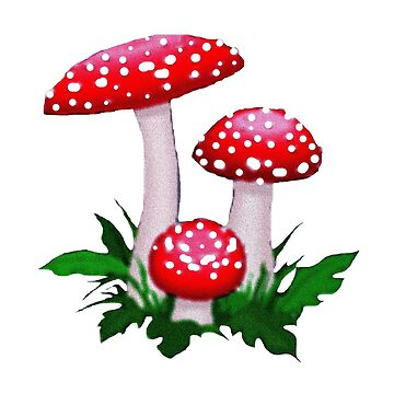 Red Spotted Mushrooms by deleas
