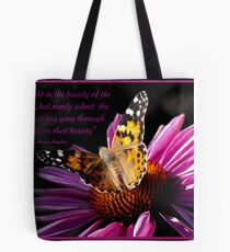 We delight in the beauty of the butterfly Tote Bag