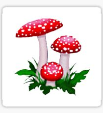 Red Spotted Mushrooms Sticker