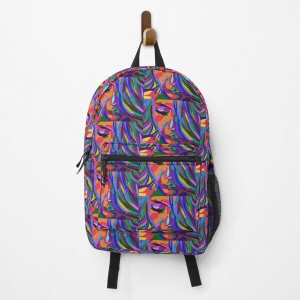 Digital portrait, colorful Backpack