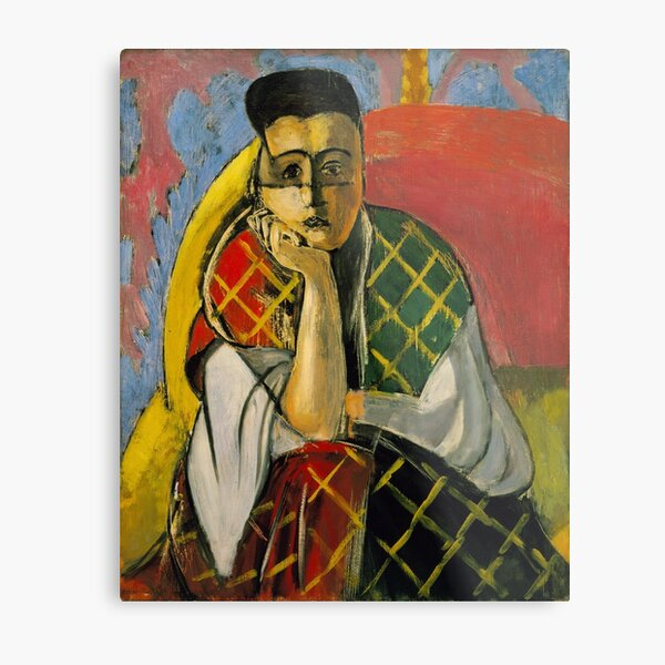 Woman with a Veil - Henri Matisse (1927) Metal Print