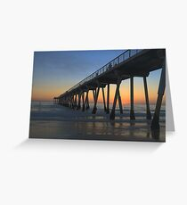 Paddleboarding In Hermosa Beach At Dusk Greeting Card
