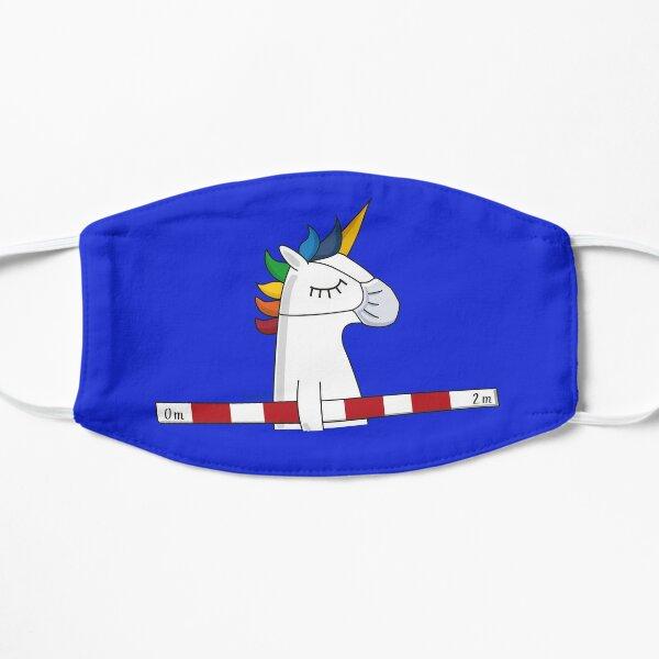 Social distancing unicorn Flat Mask