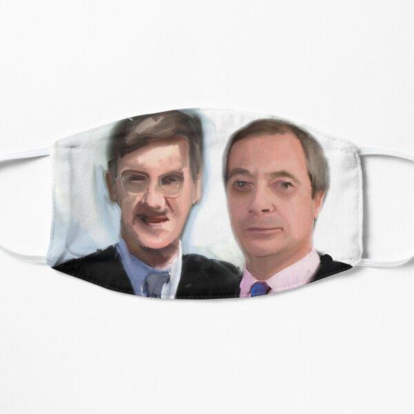 Nigel Farage Jacob Rees-Mogg Vile Bodies Mask